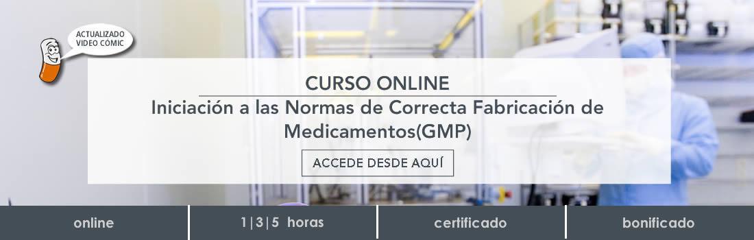 Curso online de Buenas Prácticas de Fabricación (GMP)